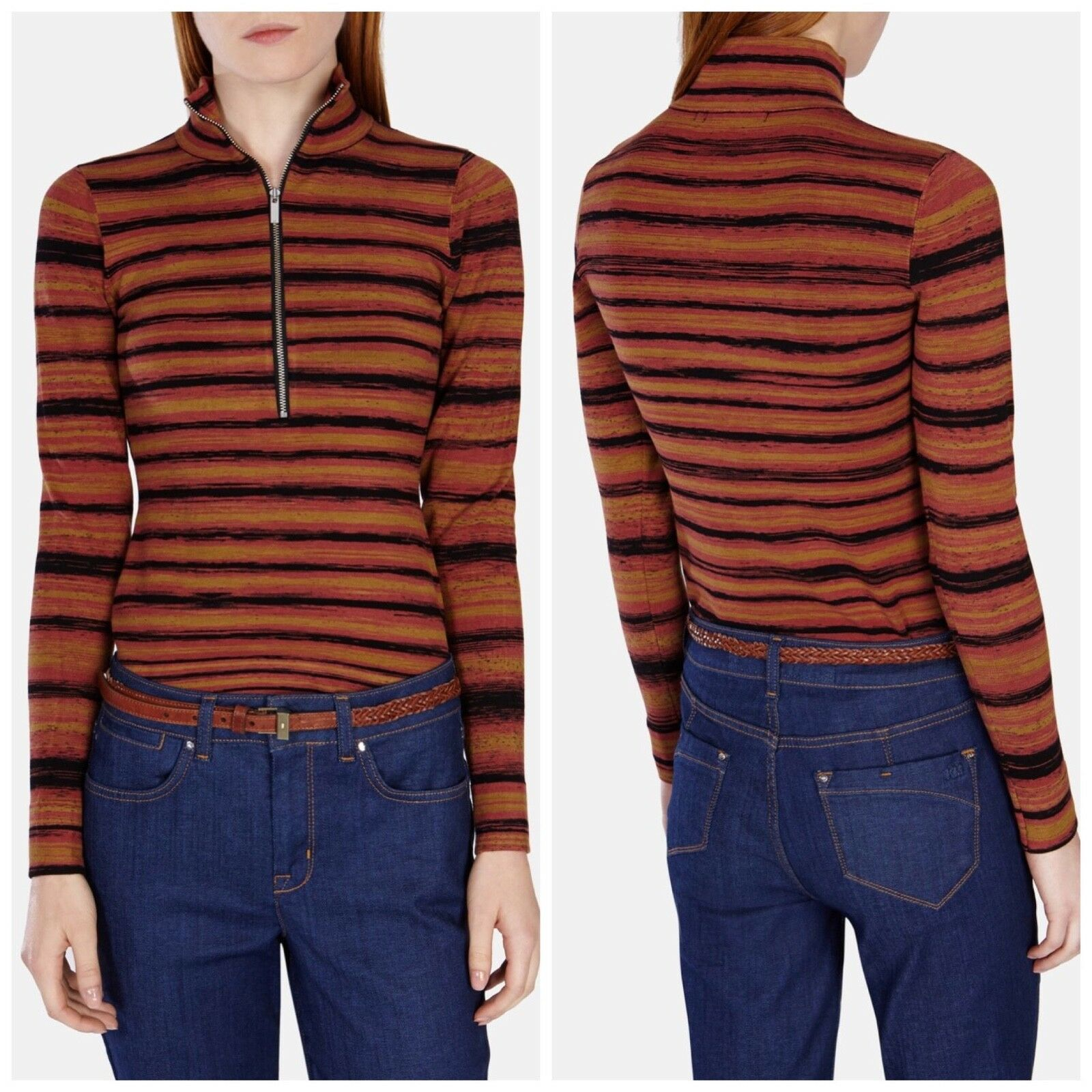 New Karen Millen Lightweight Space Space Space Dye sweater (Size XS) 15c2ae
