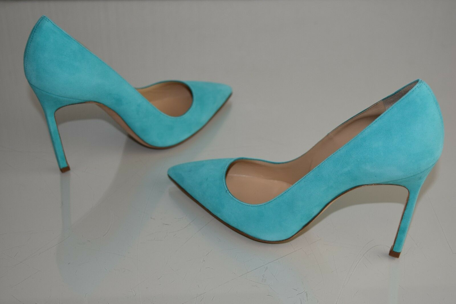 NEW MANOLO BLAHNIK BB 105 PUMPS SUEDE TURQUOISE TURQUOISE TURQUOISE schuhe Heels 39 82f228
