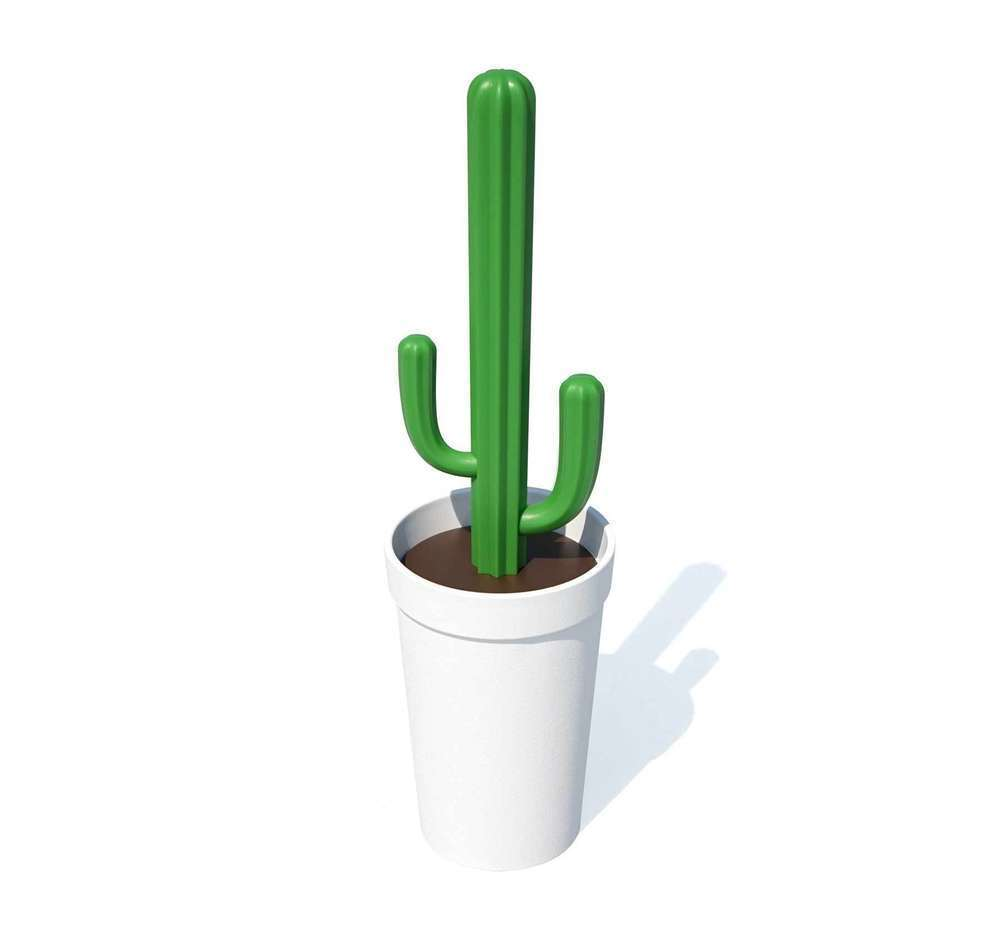 Qualy Design Toilet Brush Cactus Cacbrush White New/Boxed