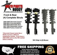 (4) Malibu,grand Am Front & Rear Complete Struts Lifetime Warranty W/shipping