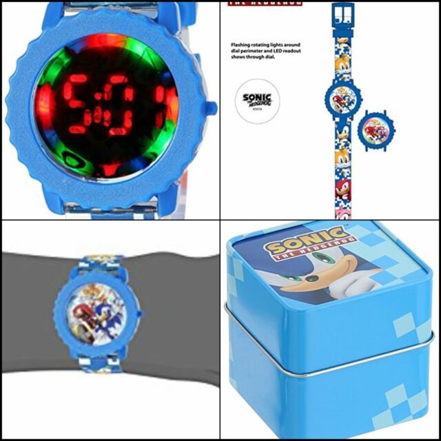 Sonic The Hedgehog Kids Snc4028 Digital Display Quartz Blue Watch 2020 Movie For Sale Online Ebay