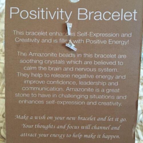 Details about  /NEW INSPIRATIONAL POSITIVITY ENERGY AMAZONITE CRYSTAL STONE BEADS Bracelet