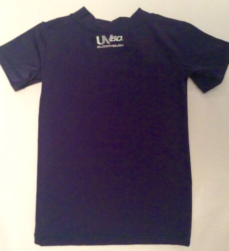 NEW SPEEDO Unisex Youth Swim Size S Small 4-6X Shirt Rashguard Deep Blue UPF 50