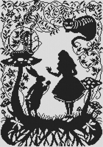 Silhouette Cross Stitch Chart-Alice