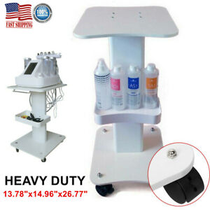 ABS Beauty Salon Trolley Salon Pedestal Rolling Cart 4 Wheels Aluminum Stand