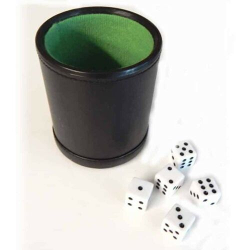 Free Shipping USA Deluxe Leather Dice Cup and Dice Set For Casino Games