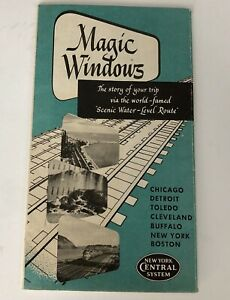 Vintage-New-York-Central-Railroad-Booklet-1951-Magic-Windows-Brochure-Pamphlet