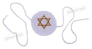 Gold-Star-of-David-BABY-Knitted-Kippah-Yarmulke-Tribal-Jewish-Yamaka-Kippa-Israe