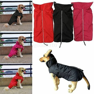 Dog Pet Outdoor Winter Waterproof Rain Coat Jacket Fleece Hoodie Costume Clothes