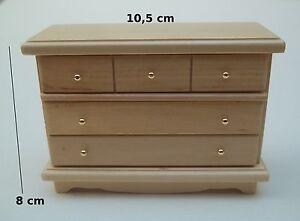 commode en pin verni, miniature,mais<wbr/>on de poupée,vitrine meuble chambre  M4