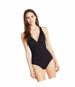 La Blanca Womens Island Goddess Horizontal Strappy Back One Piece Swimsuit