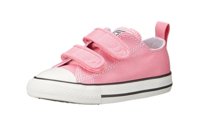 Converse Girls Chuck Taylor All Star 2V Infant Babies Toddler Shoes Pink  White c055bbecc