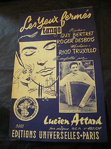 Spartito-le-Occhi-Chiusi-Rico-Truxillo-Lucien-Attard-1963-Music-Sheet