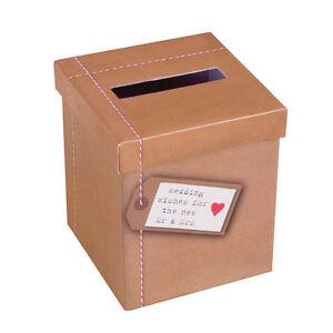 Geschenke Geldbox My Type Natur Hochzeit Briefbox Geldgeschenke