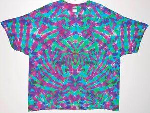 106694f6 Adult TIE DYE Electric Blotter T-shirt 5X 6X Grateful Dead hippie ...