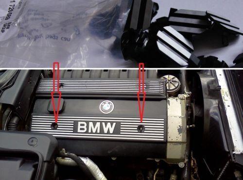 2x Clips Pour BMW M50 M52 M54 Capot du moteur Trim Bolt Cap Plug 1726089 1112 1726089