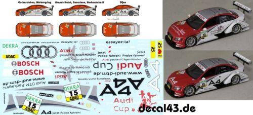1//43 Decal Audi A4 DTM /'Phoenix Racing/' DTM 2009 Oliver Jarvis