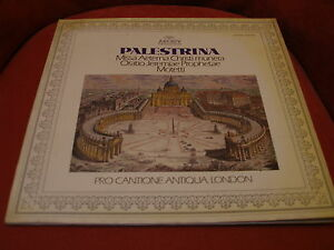 PRO-CANTIONE-ANTIQUA-LONDRES-Palestrina-LP-10-track-ARCHIV-gatefold-1976