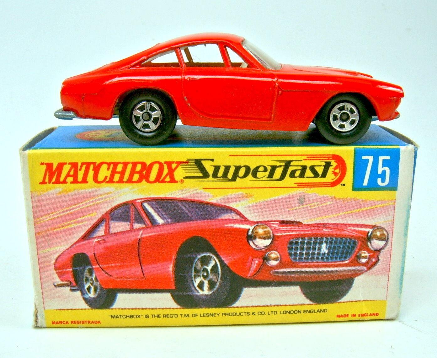 diseño simple y generoso Matchbox súperfast nº 75a ferrari berlinetta rojo rojo rojo finas ruedas perfectamente en Box  precios bajos