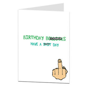 Rude happy birthday greetings card funny offensive humour insult him image is loading rude happy birthday greetings card funny offensive humour m4hsunfo