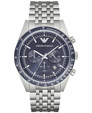 Armani Sportivo AR6072 Blue/Silver Stainless Steel Analog Quartz Men's Watch