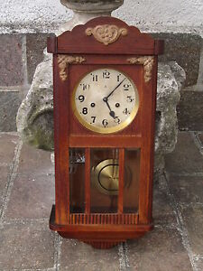 Gustav becker antico orologio pendolo da parete meccanico for Orologi a pendolo da muro