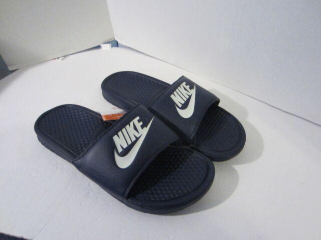 e78a397f2 Nike Men s Benassi JDI  343880 403 Midnight Navy Slides Sides 10 for ...