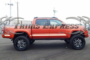 2016-2019-Toyota-Tacoma-Double-Crew-Cab-5-039-Bed-Trim-Chrome-Body-Side-Molding-BBL