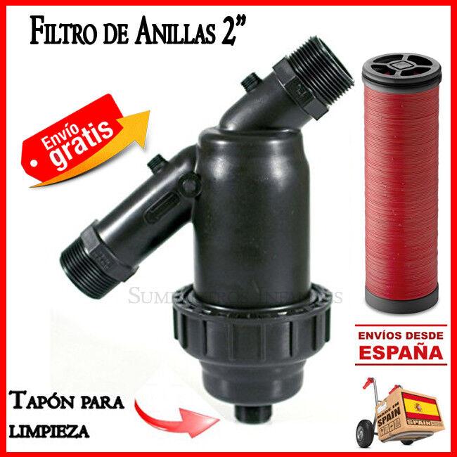 "s l1600 - Filtro de anillas 63mm para sistemas riego Irritec 2"" Filtro goteo filter 63 mm"