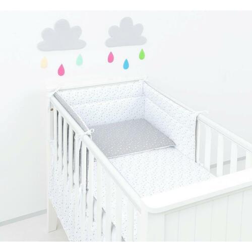 ClevereKids  Baby Nestchen Bettumrandung Sterne 190 cm OEKO-TEX Bumper