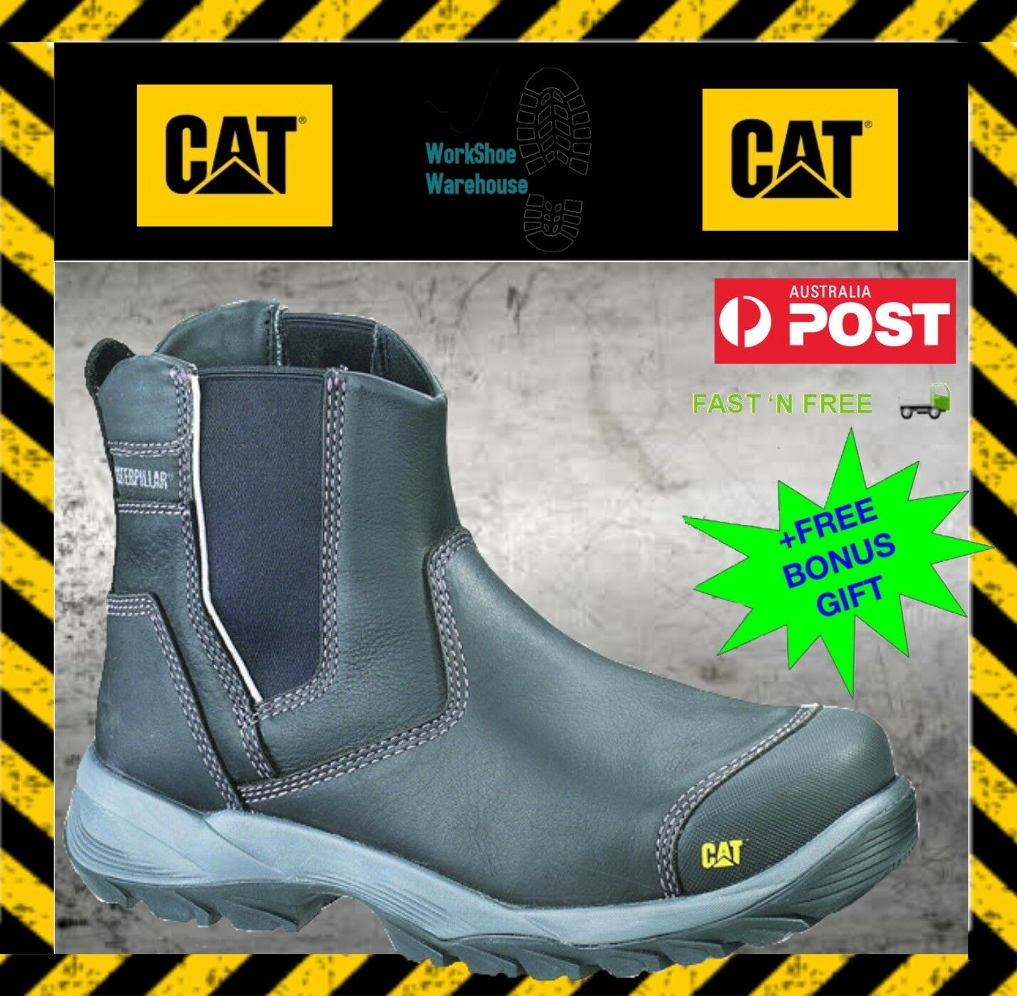 Caterpillar CAT Propane Men's Steel Toe Cap Black Safety Work Boots