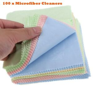 100x Microfiber Cleaner Cleaning Cloth For Phone Screen Camera Lens Eye Glasses