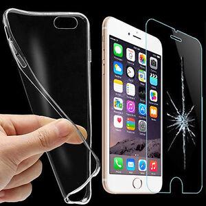 Coque-etui-Housse-Clear-TPU-Verre-Trempe-Film-Protecteur-Ecran-Smart-Phone