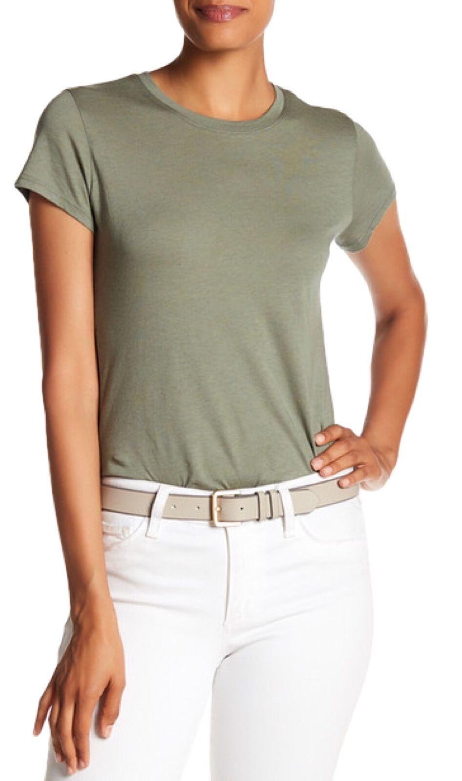 NWT Vince Women's Boy Basic Tee T Shirt Pima Cotton Top Green Sage Medium M