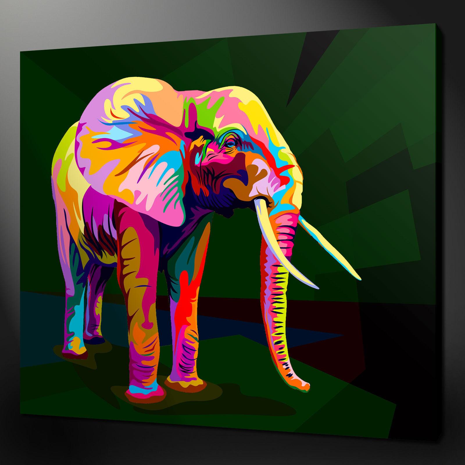 Éléphant Toile Impression Photo Wall Art Abstrait Home Decor Gratuit Livraison Rapide