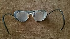 Vintage Bausch Lomb 20 47 Safety Motorcycle Steam Punk Glasses Side Cover Fold