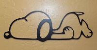 Sleepy Snoopy 11 1/2 Wide Metal Wall Art Decor