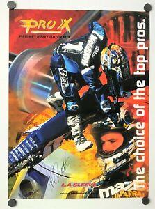 Motorcycle Poster Original Jeremy McGrath Yamaha Supercross 1999 Autographed