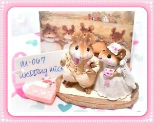 Wee-Forest-Folk-M-067-Wedding-Mice-Cream-White-Retired-Mouse-Couple-1982