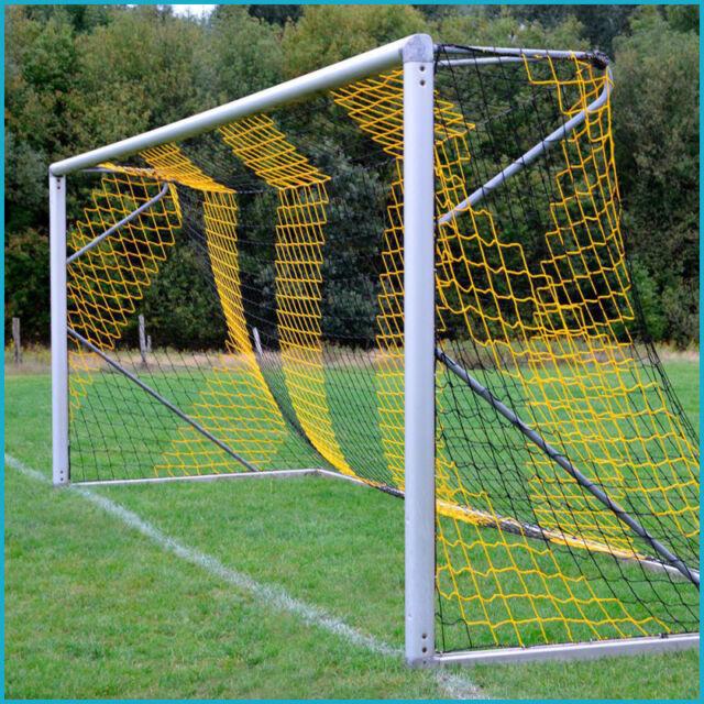 Jugend Fußballtornetz Tornetz 5 x 2 m, 1,00 / 1,00 m, 4 mm, Schwarz Gelb