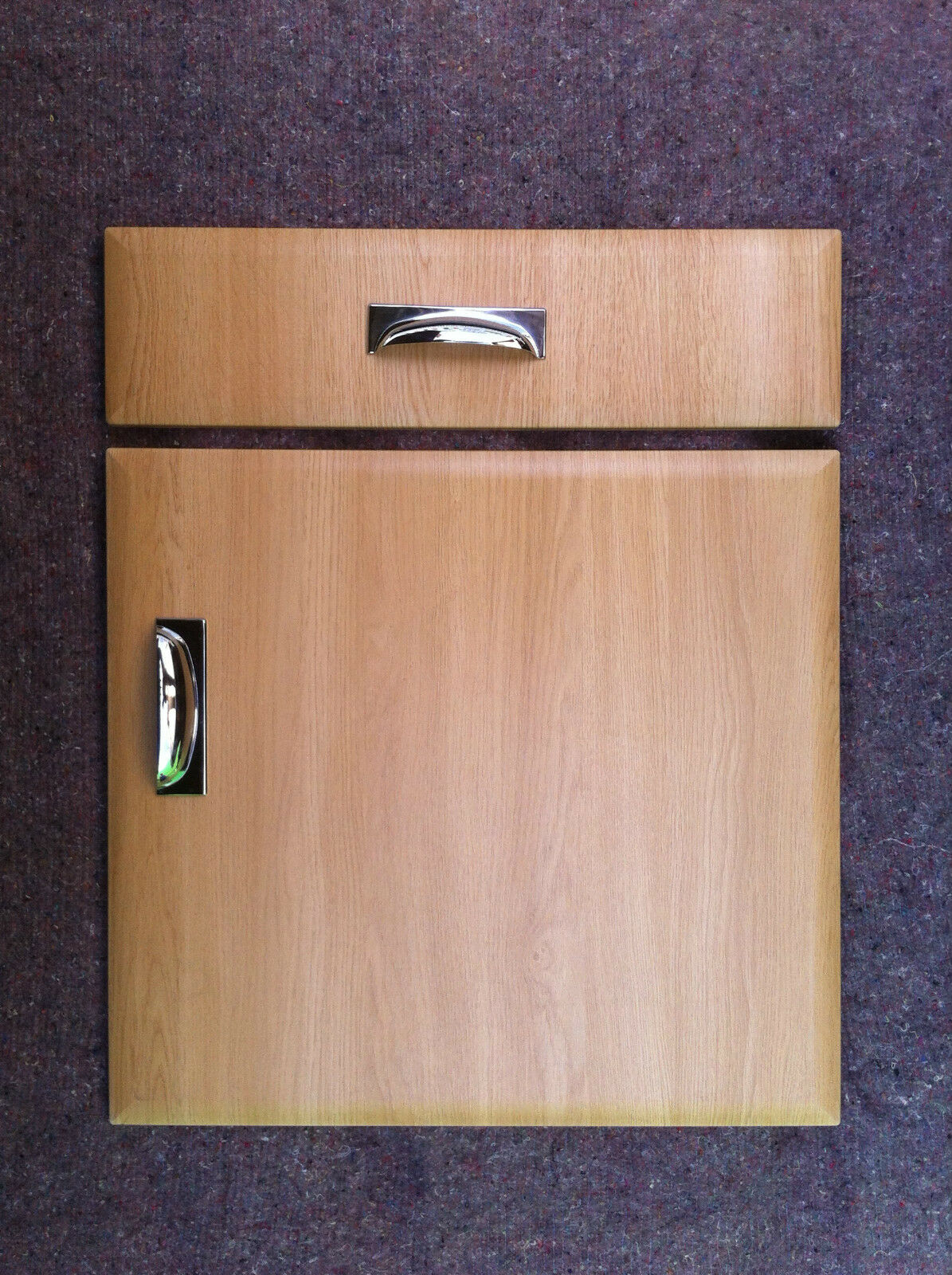 Peachy Chamfered Light Oak Kitchen Cupboard Doors Fit Howdens Bq Wickes Magnet Mfi Etc Home Remodeling Inspirations Cosmcuboardxyz