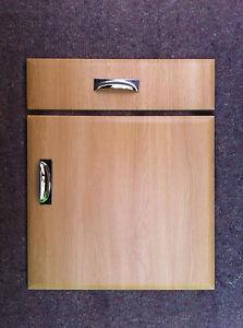 Chamfered Light Oak Kitchen Cupboard Doors fit Howdens BampQ