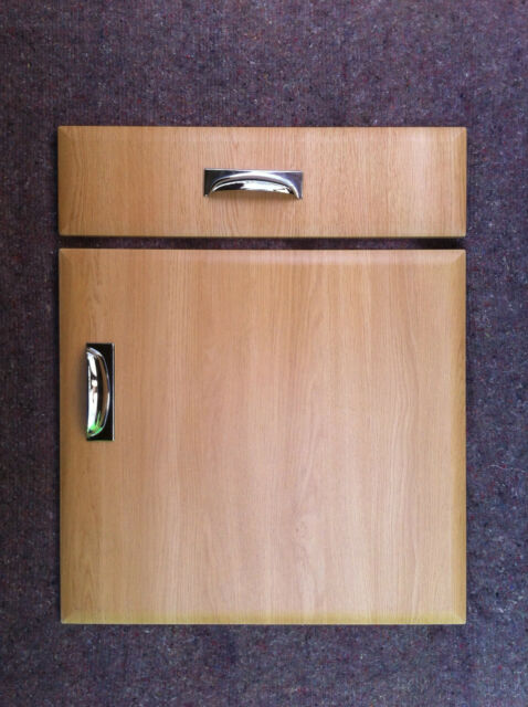 Bevel Edge Light Oak Kitchen Cupboard Door/drawers To Fit Howdens MFI Bu0026Q  Wickes