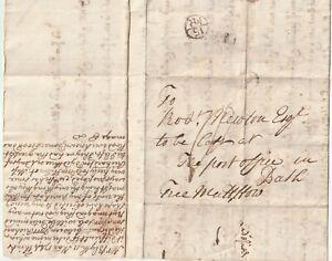 1744-DERBY-PMK-BISHOPMARK-LETTER-FREE-MATT-HOWE-TO-ROB-NEWTON-PO-BATH-FLOOD