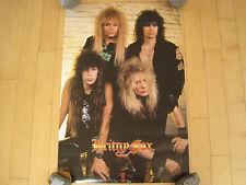 WOW! 1990 vtg BRITNY FOX band POSTER 90s HAIR METAL glam rock MANCAVE original