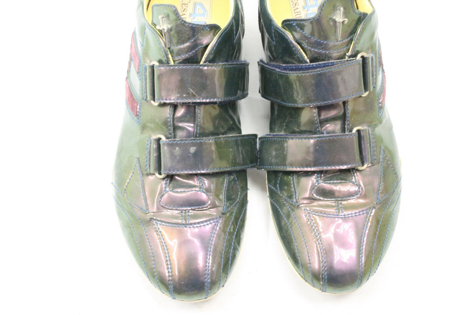 CESARE CESARE CESARE PACIOTTI women shoes sz 6.5 Europe 37 green leather S7179 ac82cb