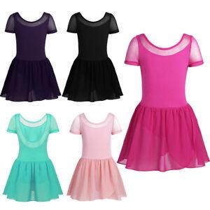3b57e5c82 Girl Kids Ballet Dance Leotard Tutu Dress Backless Dancewear Gym ...