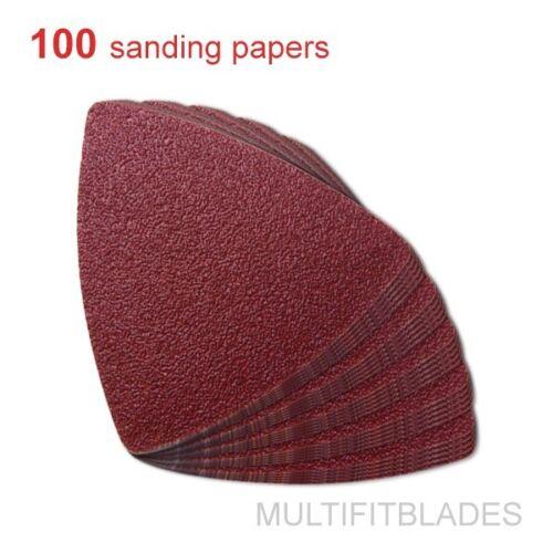 Craftsman + Fein Bosch 100 Pack: 60 Grit MultiTool Triangular Sanding Sheets