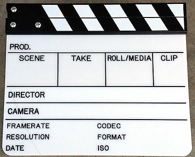 HD Cinema Video Scene Slate, Clapper Board, Clapboard, for Alexa, Red,Sony,Canon
