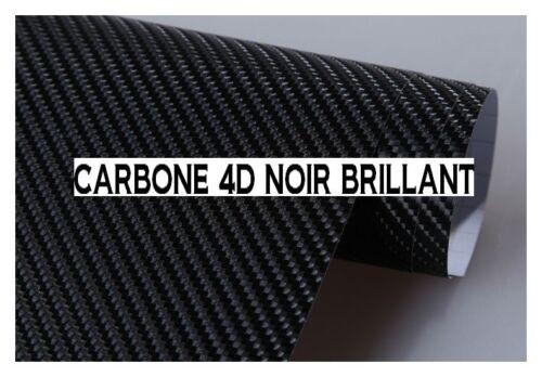 FILM VINYLE CARBONE 4D NOIR 20 x 30 cm COVERING